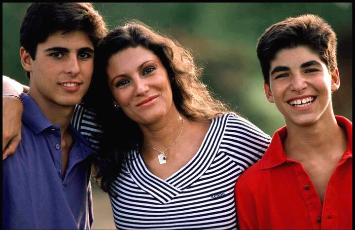 Carmina Ordóñez con Fran y Cayetano