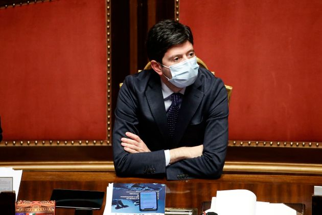 Italian Minister of Health Roberto Speranza during the session in the Senate for Communications on the...