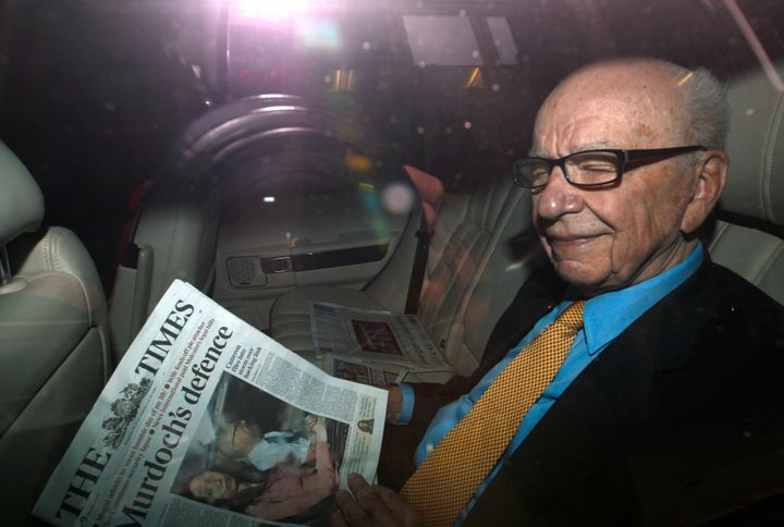 Rupert Murdoch, founder and executive chairman of News Corp., in London July 20, 2011.