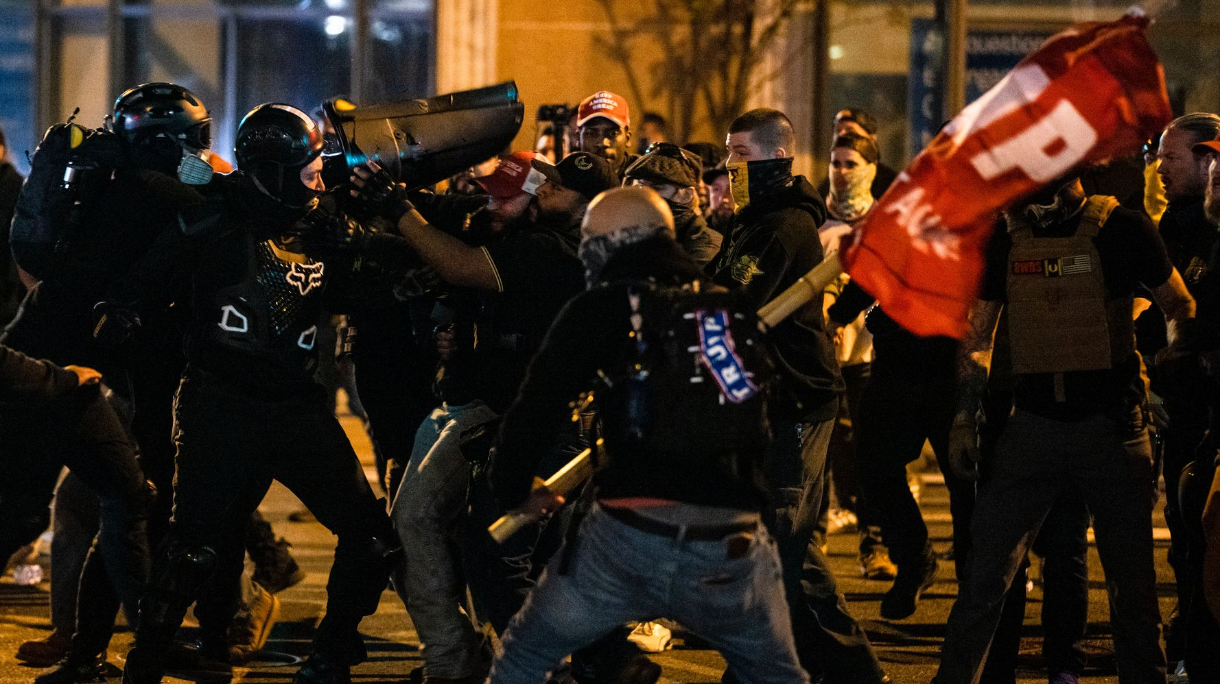As D.C. Clashes Erupt, Trump Sics Police On 'Antifa Scum' In Stunningly Vicious Tweet