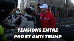 Des scènes de tensions et de heurts entre pro et anti-Trump à