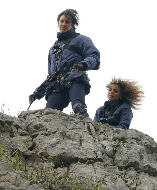 The campmates have to take part in an abseil challenge to earn their kit