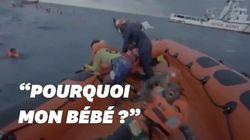 Cette mère pleure la perte de son enfant dans un naufrage au large de la