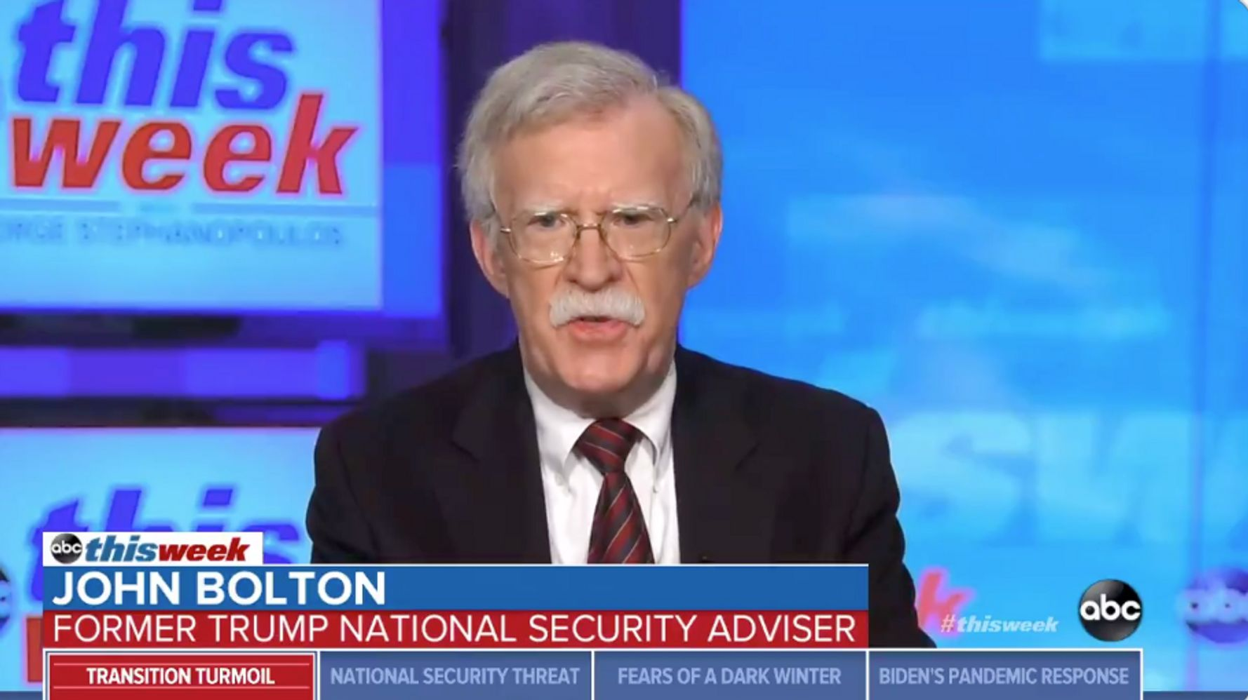 John Bolton Urges Republicans To Publicly Reject Trump's 'Baseless' Voter Fraud Claims