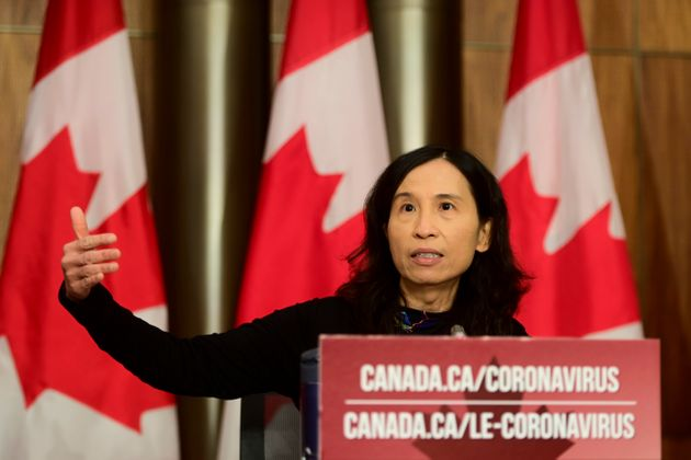 Chief Public Health Officer Dr. Theresa Tam during a press conference in Ottawa last