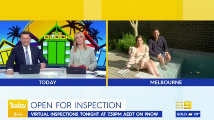 Karl Stefanovic and Allison Langdon interview Sarah and George from 'The Block'