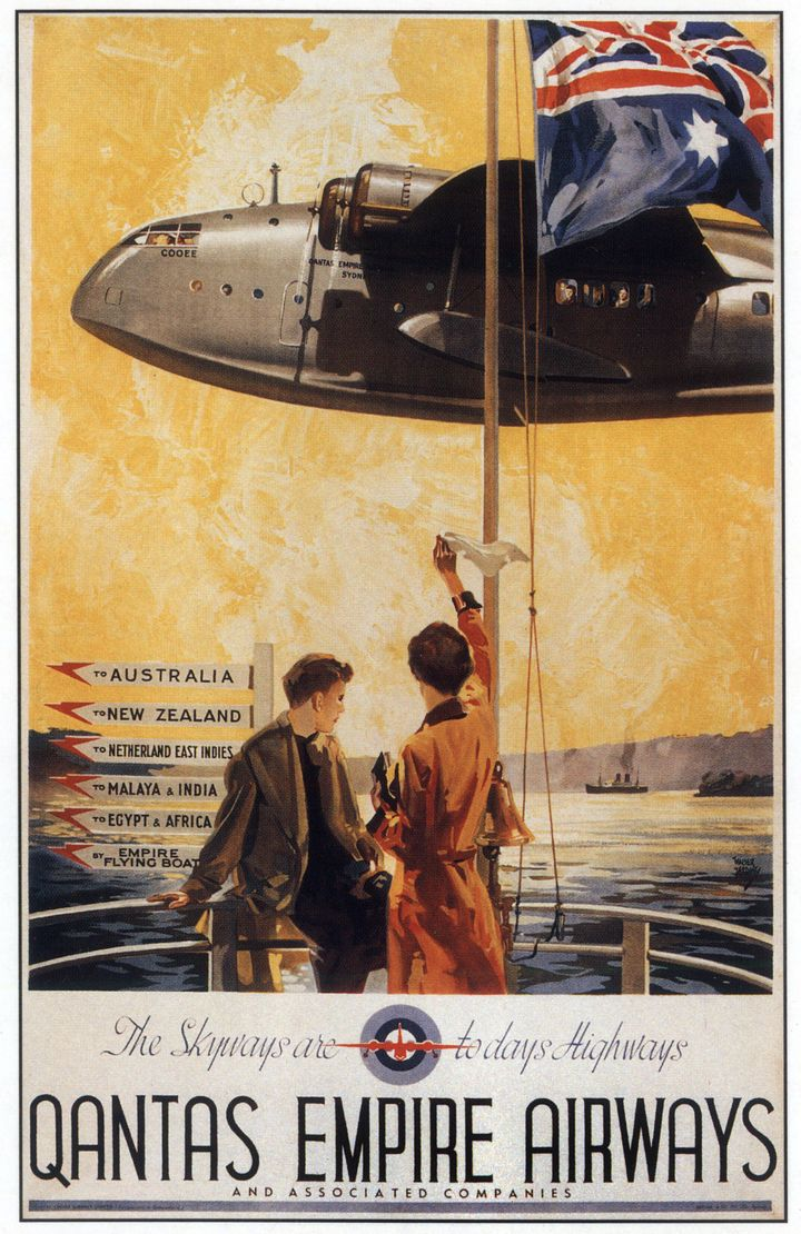 Qantas empire Airways advertisement circa 1939.