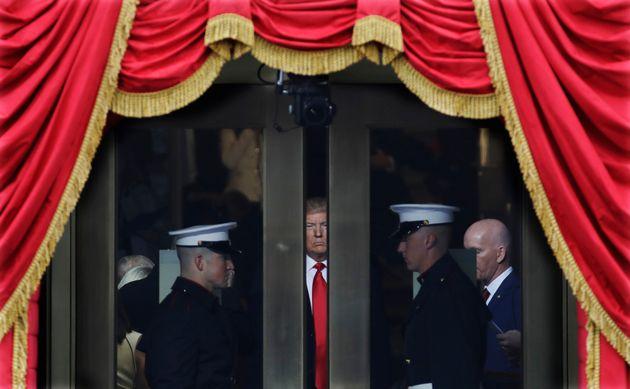 (자료사진) 2017년 1월20일. 도널드 트럼프 대통령이 취임식장에 입장하고