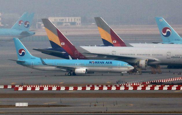 아시아나항공 여객기와 대한항공