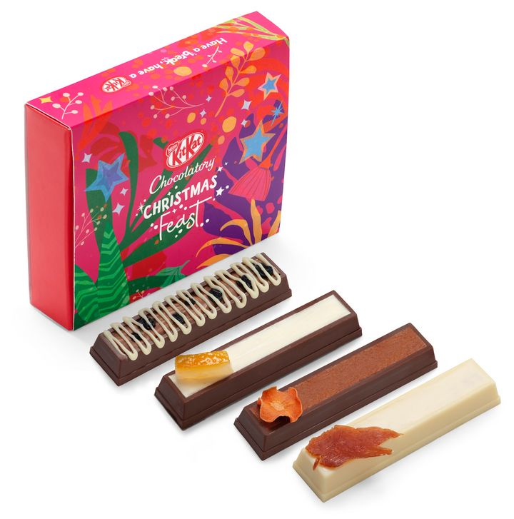 KitKat has released a Christmas-inspired collection of chocolate bars.