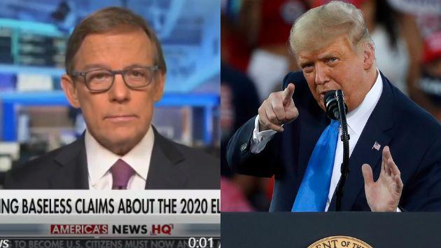 El periodista Eric Shawn y Donald