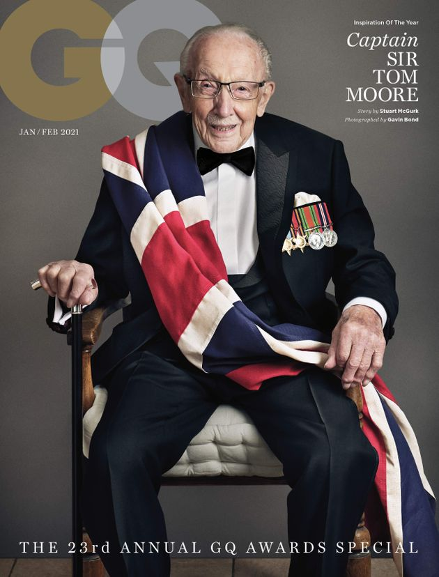 Captain Sir Tom Moore Is GQ's Oldest – And Most Dapper – Cover Star