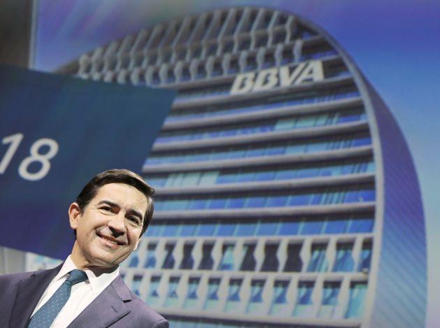 El presidente del BBVA, Carlos Torres, en una presentación de
