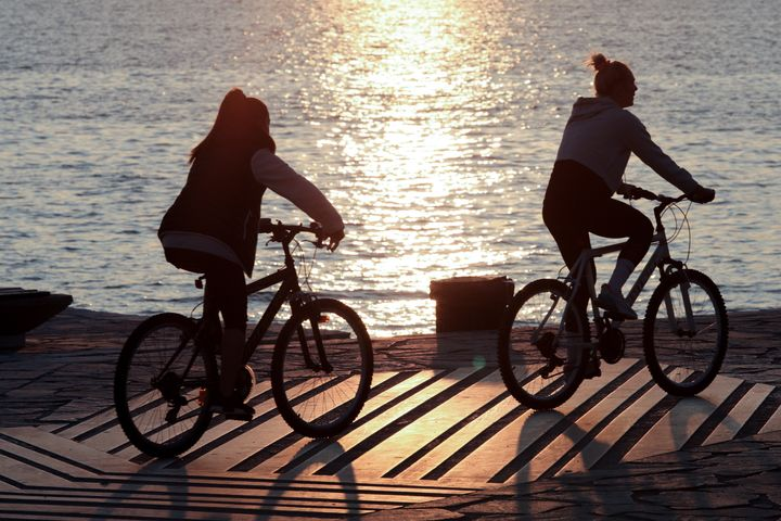 Ποδήλατο το ηλιοβασίλεμα