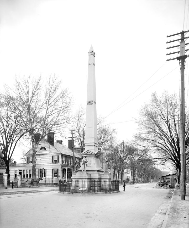 The Confederate Monument in Portsmouth, the source of the city's ongoing civic controversy.