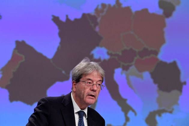European Commissioner for Economy Paolo Gentiloni presents the Autumn 2020 Economic Forecasts, at the...