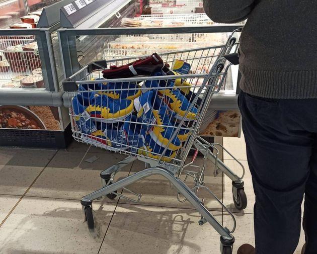 Immagini da un supermercato