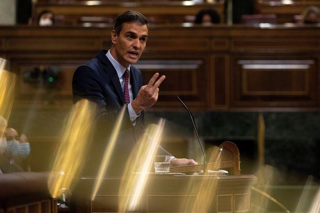 Pedro Sánchez, el pasado 22 de octubre en el Congreso, durante el debate de la moción de