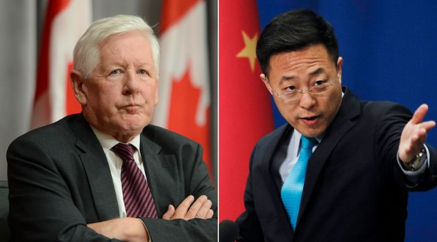 Canada's ambassador to the UN, Bob Rae, seen here on the left, told the CBC Sunday that he asked the...
