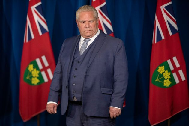 Ontario Premier Doug Ford attends a briefing in Toronto on Nov, 13,