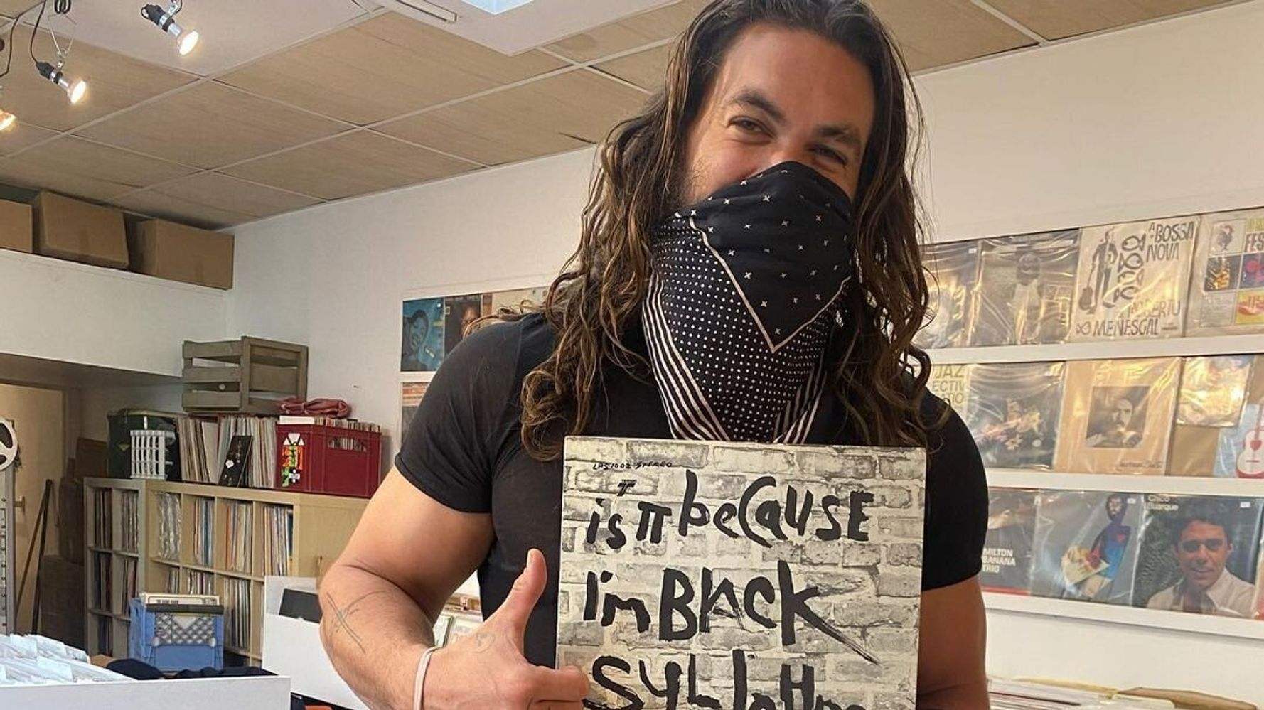 Improve Your Day By Watching Jason Momoa Dance At A Toronto Record Store