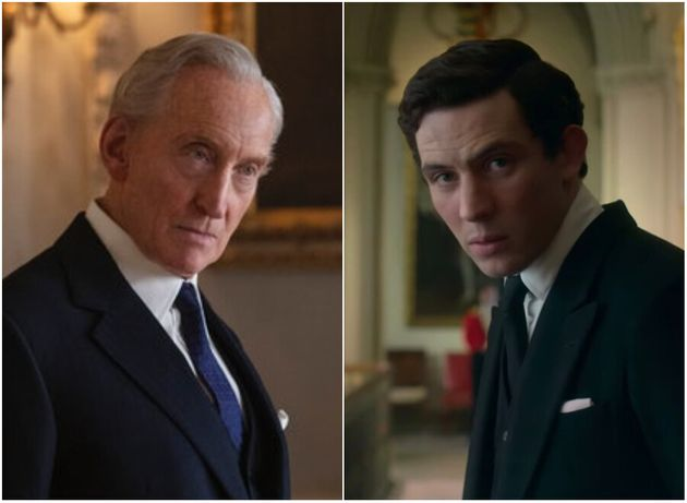 Charles Dance as Lord Mountbatten and Josh O'Connor as Prince Charles in The Crown