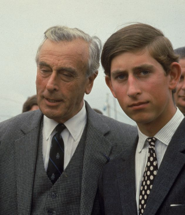 Prince Charles with Lord Mounbatten prior to his death in 1979