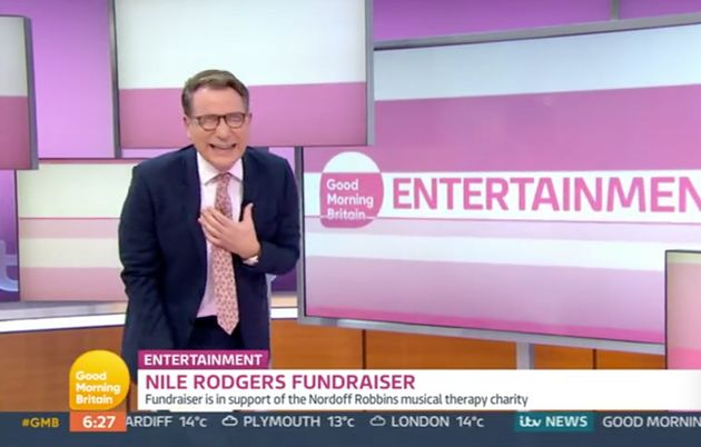 Richard Arnold laughs off his gaffe on Good Morning