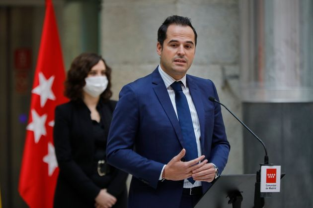 Ignacio Aguado, vicepresidente de la Comunidad de Madrid, en un acto el 18 de octubre de 2020 (Europa...