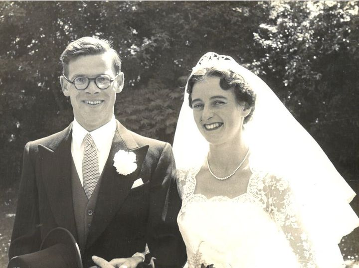 George and Olive Ford on their wedding day