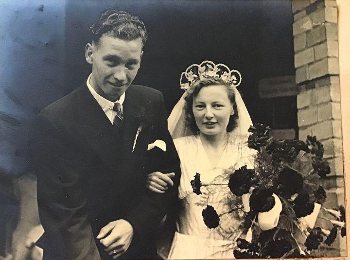 Arthur and Mary Freeland on their wedding day