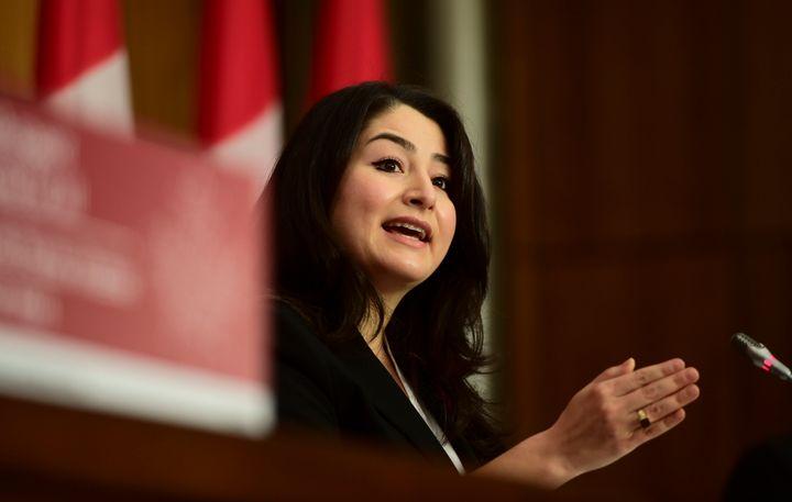 Maryam Monsef, ministre libérale desFemmes et de l'Égalité des genres, ainsi que du Développement économique rural.