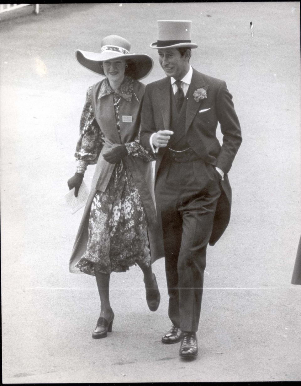 Prince Charles with Diana's older sister, Lady Sarah Spencer at Royal Ascot in