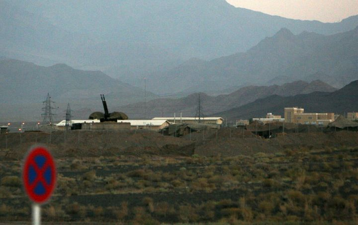 An anti-aircraft gun is seen positioned at Iran's nuclear enrichment facility in Natanz, Iran, in 2007.International in