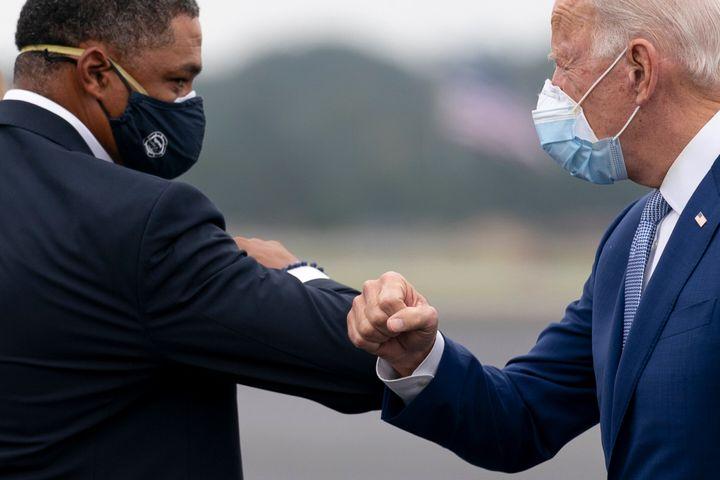 President-elect Joe Biden (right) has selected Louisiana Rep. Cedric Richmond (left) to serve as a senior adviser and the&nbs