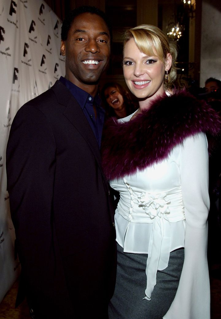 Isaiah Washington and Katherine Heigl are at odds again.