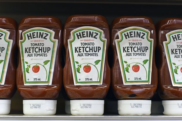 Bottles of Heinz ketchup for sale in a grocery store in Victoria, B.C. on Sept. 2,