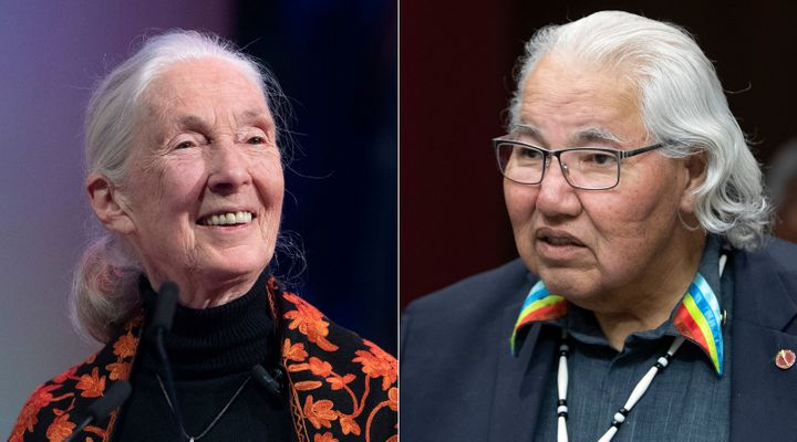 Dr. Jane Goodall and Sen. Murray Sinclair are shown in a composite image of photos from The Canadian Press.