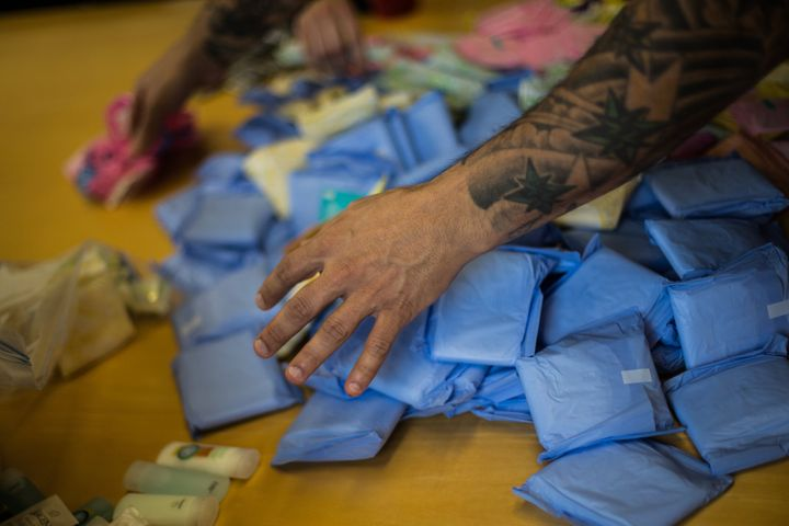 The Period Project is a program that provides hygiene products and other necessities for homeless women. (Jesse Winter/Toronto Star via Getty Images)