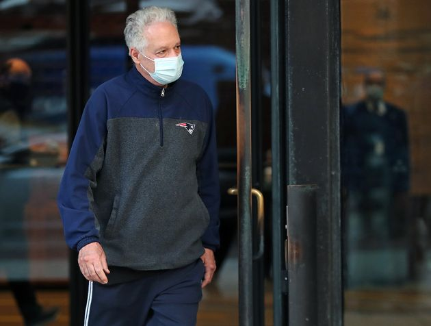 Former Harvard University fencing coach Peter Brand leaves a Boston courthouse on Monday after being...