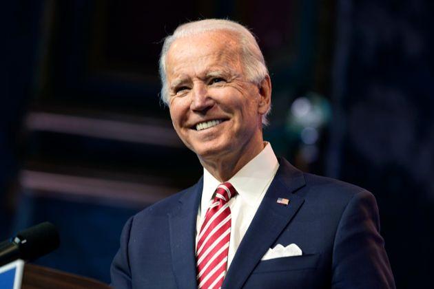 President-elect Joe Biden, accompanied by Vice President-elect Kamala Harris, speaks about economic recovery...