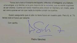 La carta de Pedro Sánchez a un niño que sufrió una agresión homófoba: