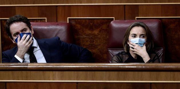Teodoro García Egea y Cuca Gamarra, el pasado 11 de noviembre en el