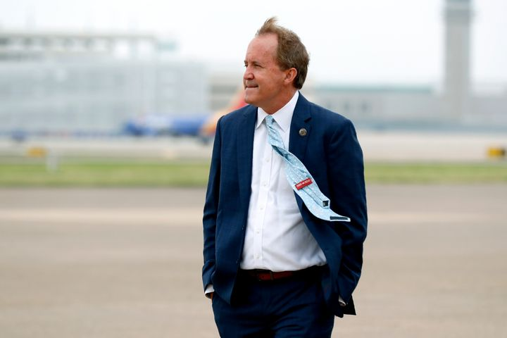 Texas Attorney General Ken Paxton is seen in Dallas in June. Several of his top deputies have accused him of crimes including