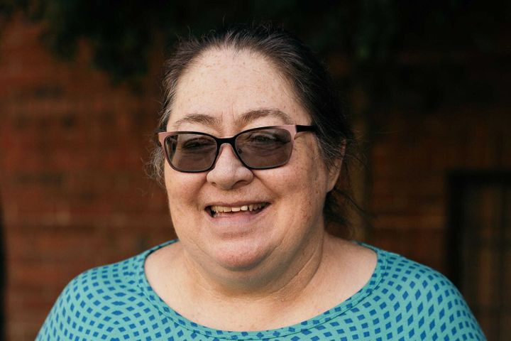Virginia Medina is a recipient in the Stockton, California, basic income program. She receives $500 a month, no strings attached. Credit: Snap Jackson