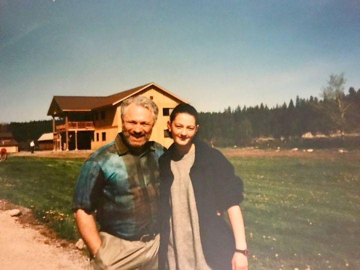 Raymond and Juli-Ann Aaron at Boulder Creek Academy in Idaho in 1997. Raymond was allowed a short visit with his daughter about nine months after he first dropped her off.