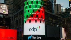 Cdp prima istituzione finanziaria italiana nel Nasdaq Sustainable Bond