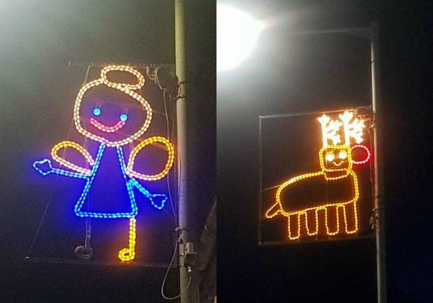 Les décorations de Noël du village de Newburgh, en Ecosse, sont créées à partir de dessins