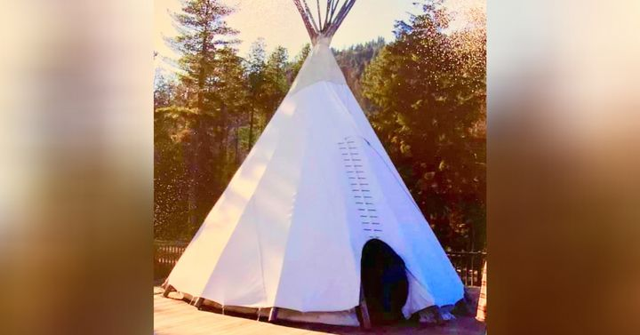 The teenagers at the Ascent Wilderness Program slept on the ground in teepees, even in the winter, as pictured here in 2005.