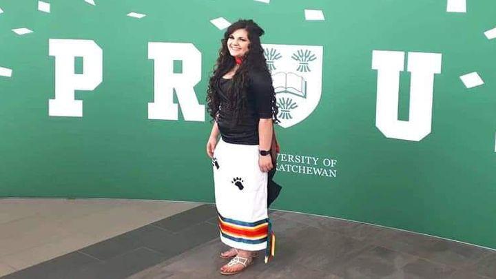 Chyanna Goodwin gradated from the University of Saskatchewan's nursing program in June 2019.